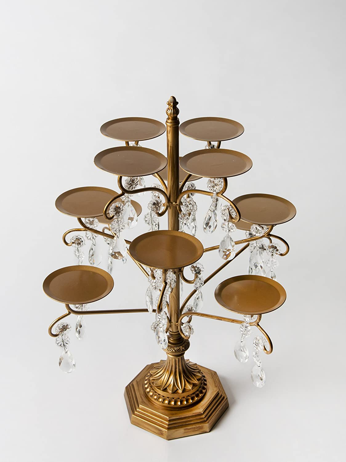 Amazon opulent treasures chandelier 12 piece cupcake candle amazon opulent treasures chandelier 12 piece cupcake candle cake pop mini desserts decorative display holder metal stand antique gold cake arubaitofo Image collections