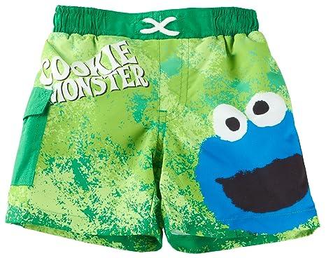 7f3b010db6a71 Amazon.com: Sesame Street Baby Boys' Cookie Monster Swim Trunks ...