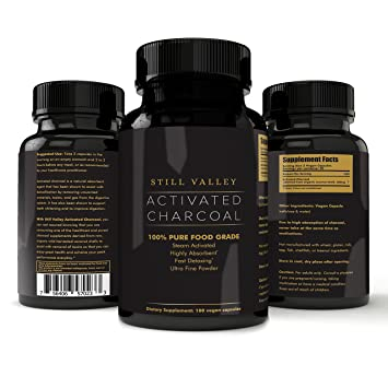 amazon com activated charcoal supplement vegan capsules made from