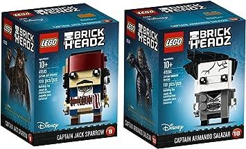 LEGO Brickheadz - Piratas del Caribe - Jack Sparrow y el capitán Salazar capitán Armando: Amazon.es: Juguetes y juegos