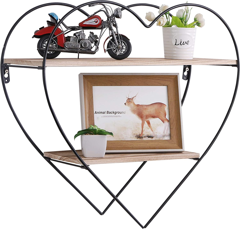 PENGKE 3-Tier Rustic Floating Wall Shelves - Industrial Modern Farmhouse Shelving for Bedroom, Kitchen, Living Room, Bath Decor, Display & Storage