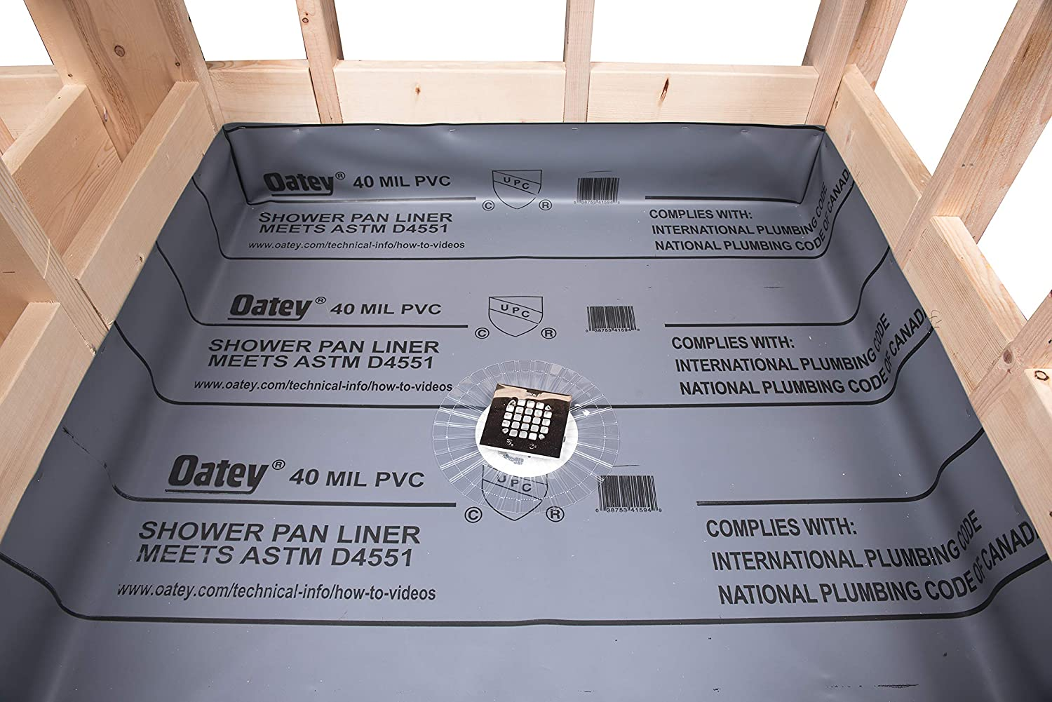 Oatey 41620 Pvc Shower Pan Liner 5 X 6 40 Mil Shower Towers