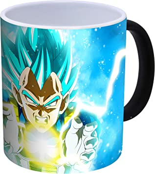 Color Azul cer/ámica, 300 ml Desconocido Dragon Ball Super Vegeta Taza de caf/é
