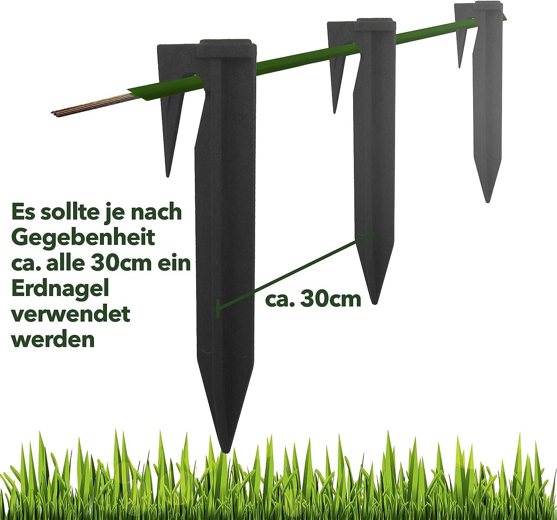 25 Stk Haken Nägel Erdnägel Mähroboter Erdspieße für Husqvarna Bosch Worx Honda