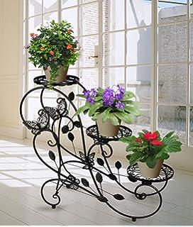 Etagere jardin metal pot porte fleurs plantes for Plante pour gros pot