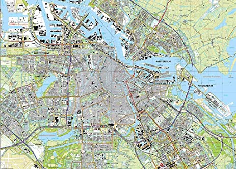 Amazoncom Amsterdam City Map Jigsaw Puzzle 1000 pc jigsaw
