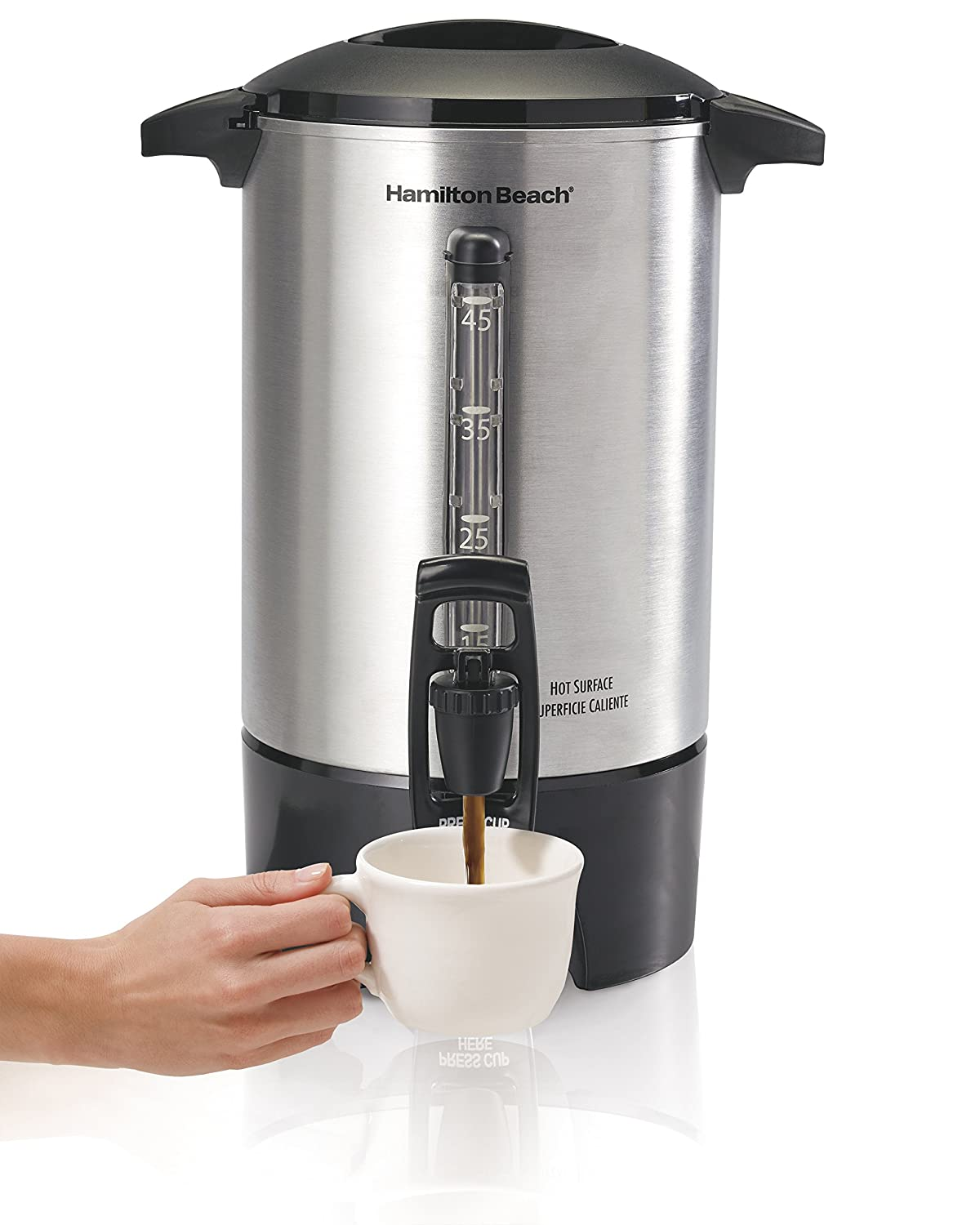 Hamilton Beach 40519 Coffee Urn 45 Cups Silver