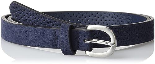 Springfield 1.T.Perforado Fake Suede 1,8C, Cinturón para Mujer, Azul (Blues), 95 (Tamaño del Fabricante:95)