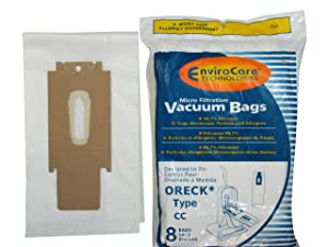 EnviroCare Oreck Vacuum Cleaner Bags to Fit Style Cc and All Upright Models, X-Large, 8 Pack