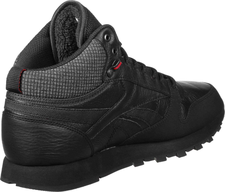 Reebok Cl Leather Mid TWD, Zapatillas de Running para Hombre 38 EU Negro (Black / Excellent Red / Blackstone)