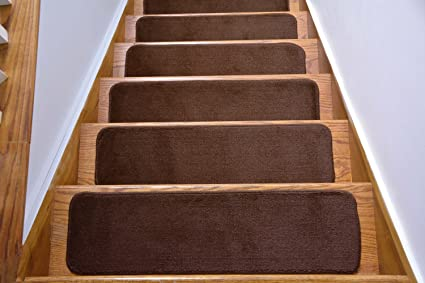 Comfy Collection Stair Tread Treads Indoor Skid Slip Resistant Carpet Stair  Tread Treads Machine Washable 8