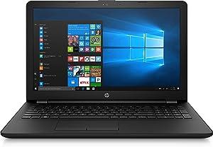 """HP 15.6"""" Laptop PC Intel N4000 2.6GHz 4GB RAM 500GB HDD DVD Writer Webcam Bluetooth HDMI Windows 10"""