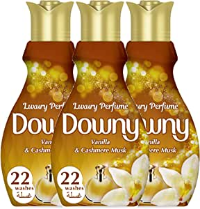 Downy Perfume Collection Concentrate Fabric Softener Feel Luxurious 880ml 2+1 Pack