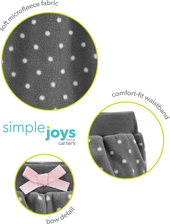 Pacco da 4 Simple Joys by Carters 4-Pack Fleece Pants Bimba 0-24