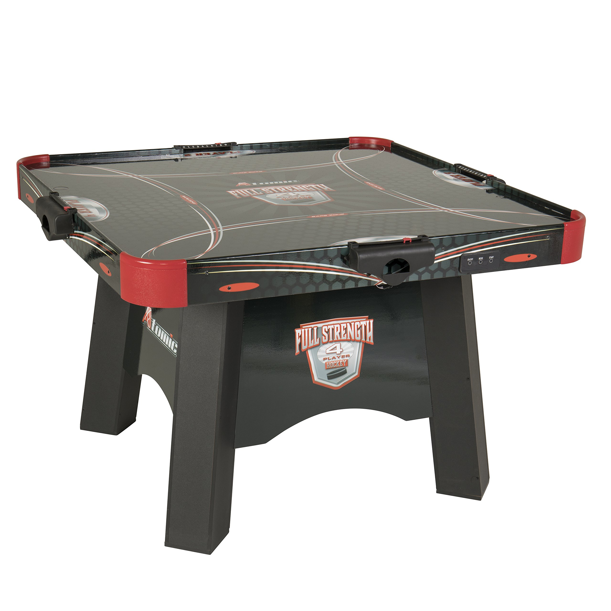 Atomic Full Strength 4-Player Air Powered Hockey Table with LED LIGHT UP Pucks and Pushers