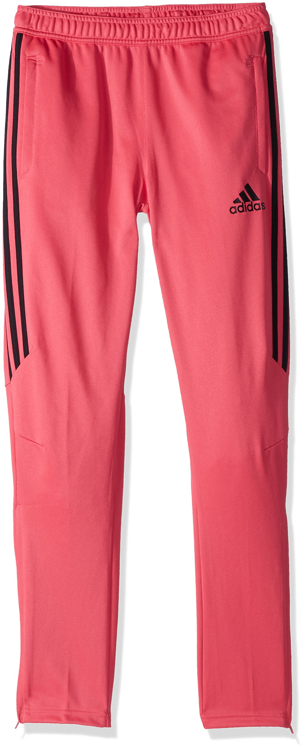 adidas Youth Soccer Tiro 17 Training Pants, Real Pink/Black, X-Small