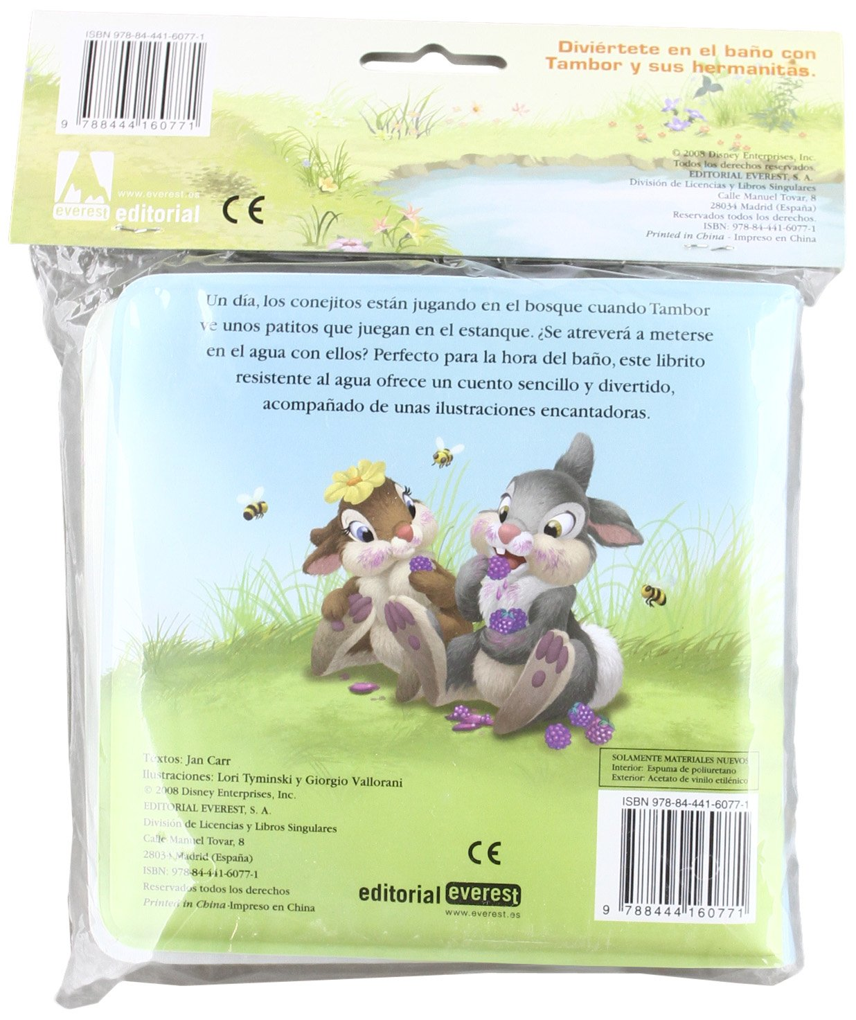 Al agua con Tambor Tambor y su familia / Libros singulares: Amazon.es: Walt Disney Company, Carr Jan, Vallorani Giorgio, Tyminski Lori, Alonso Mendoza ...