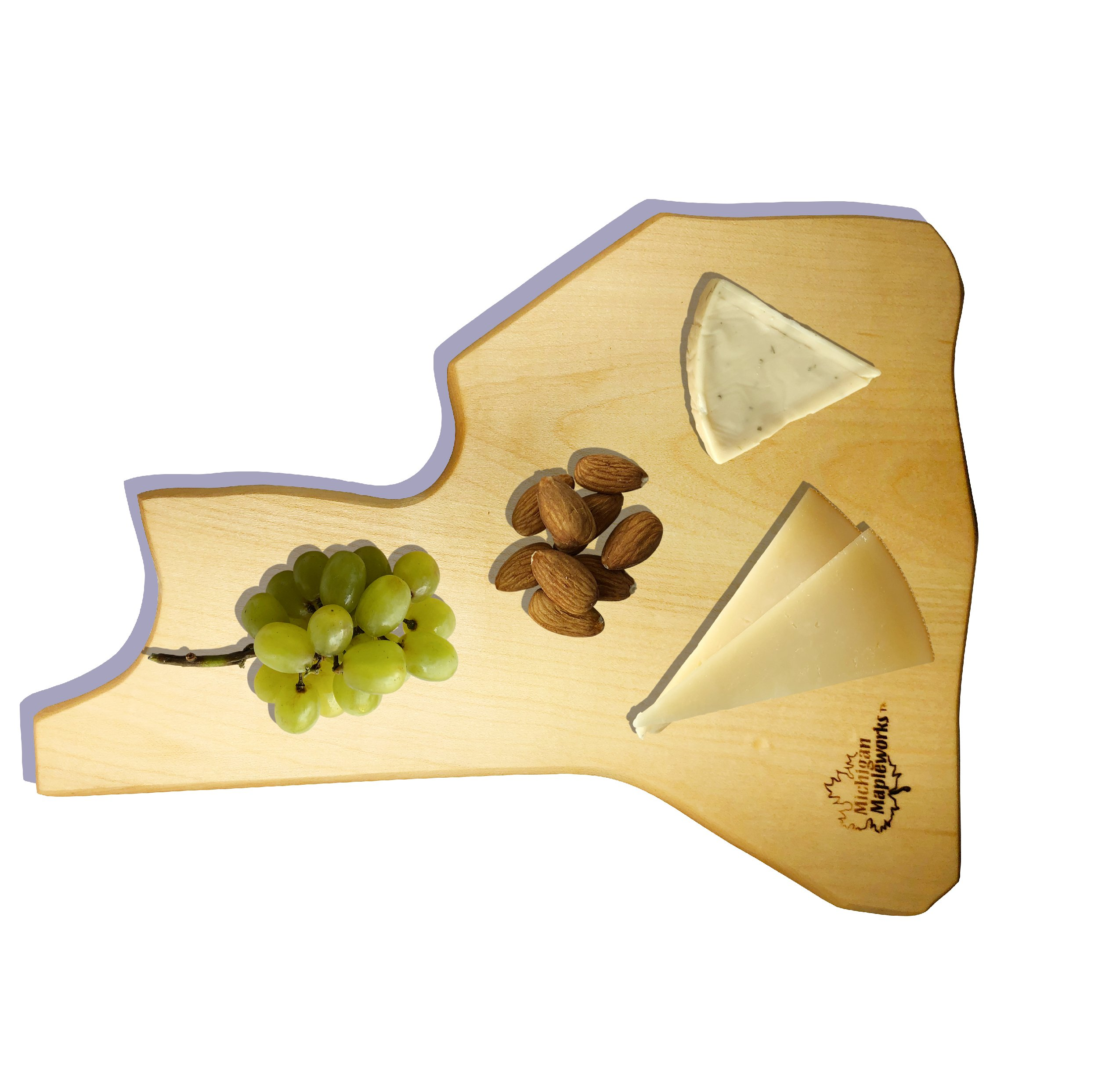 NEW YORK Maple Wood Cutting Board Set & NewYork Gift Made in USA | New York Souvenir for a Nice Home decor or State Serving Board & Cheese tray | Chopping Block with Wood Knife Spreader