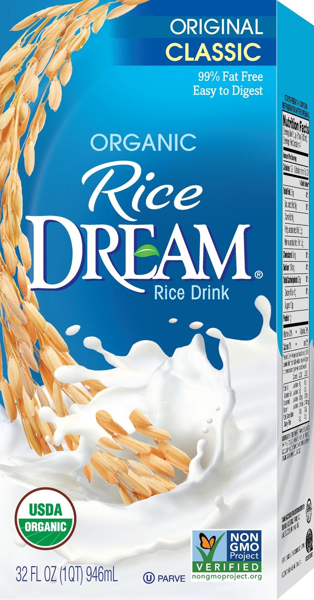 RICE DREAM Classic Original Organic Rice Drink, 32 fl. oz. (Pack of 12) by Dream Blends