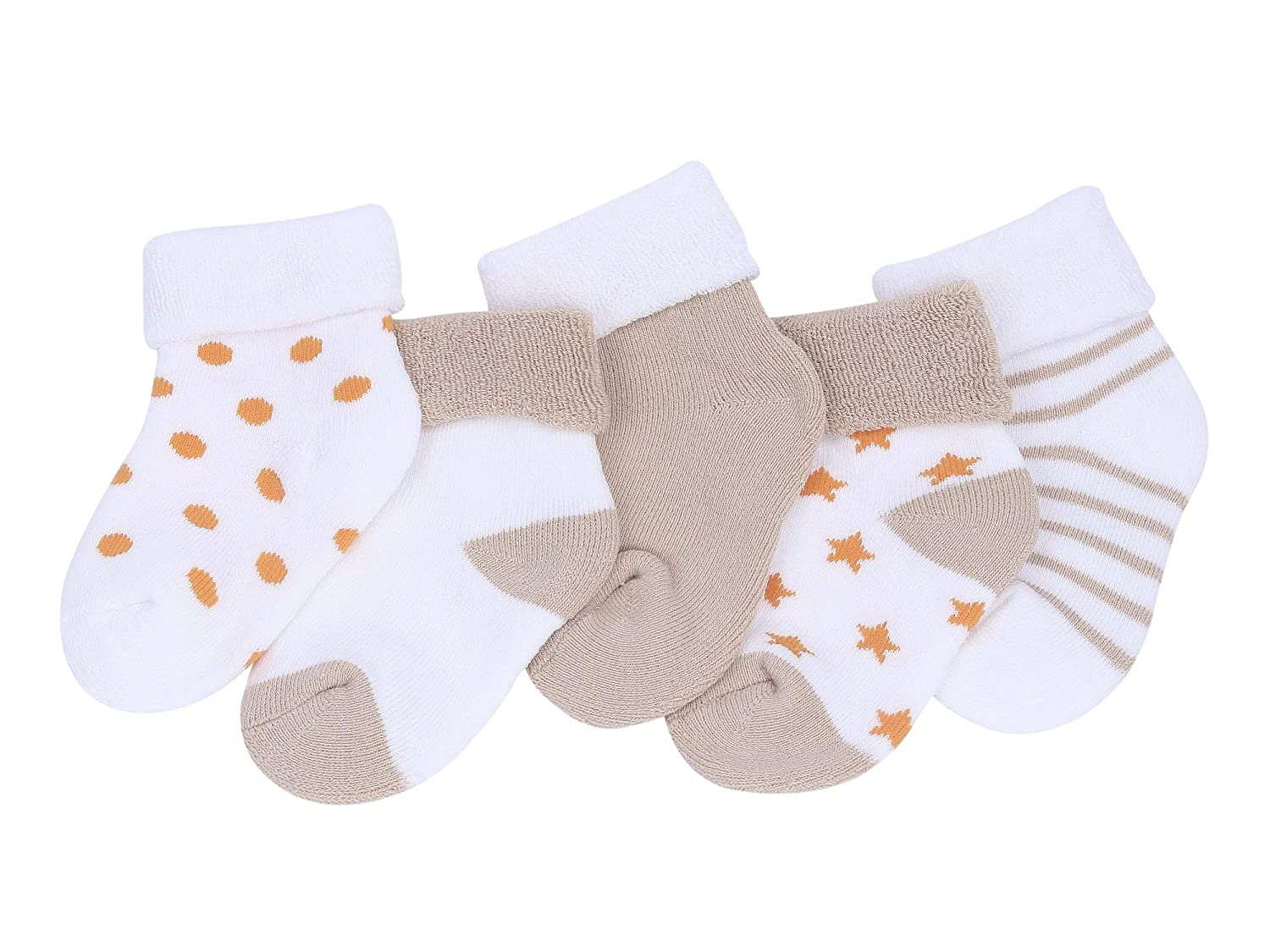 5er Pack Baby Cotton Socks set Infants Toddler Kids Breathable Lovely 0-10 Years