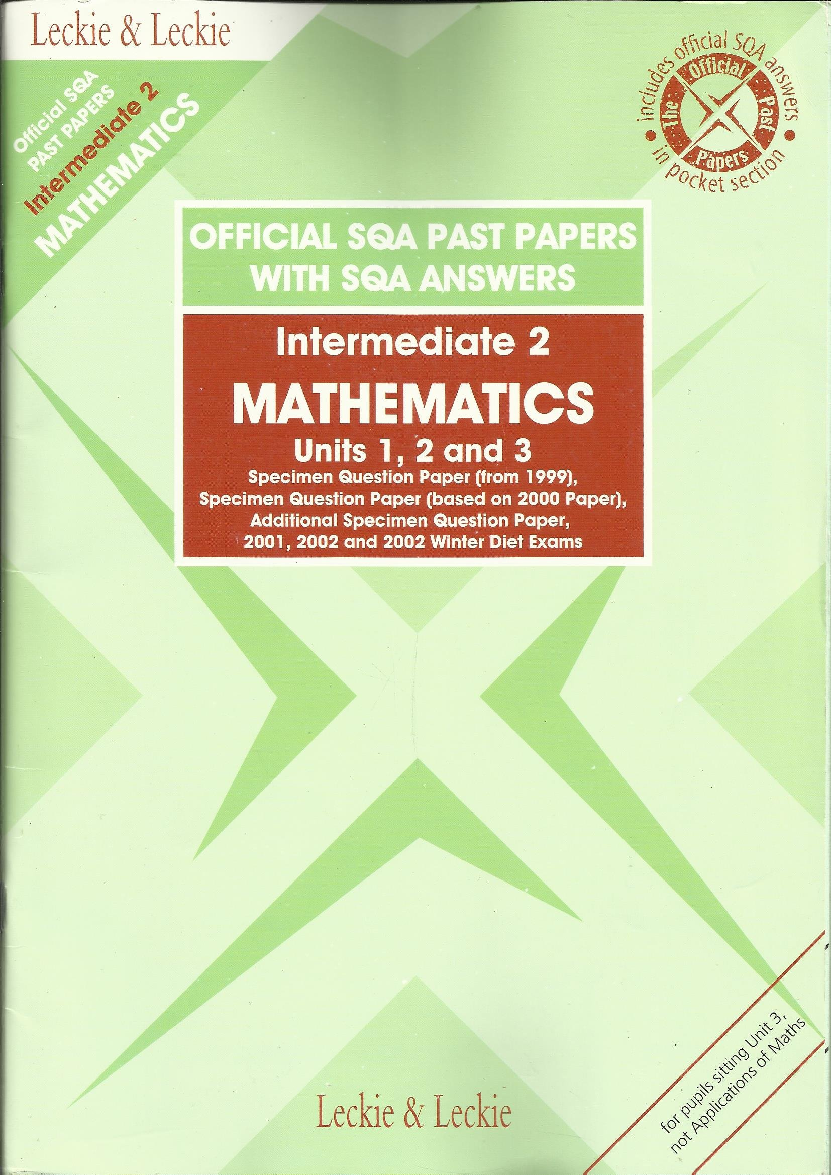 Intermediate 2 maths past papers 2002 ambulette driver resume sample