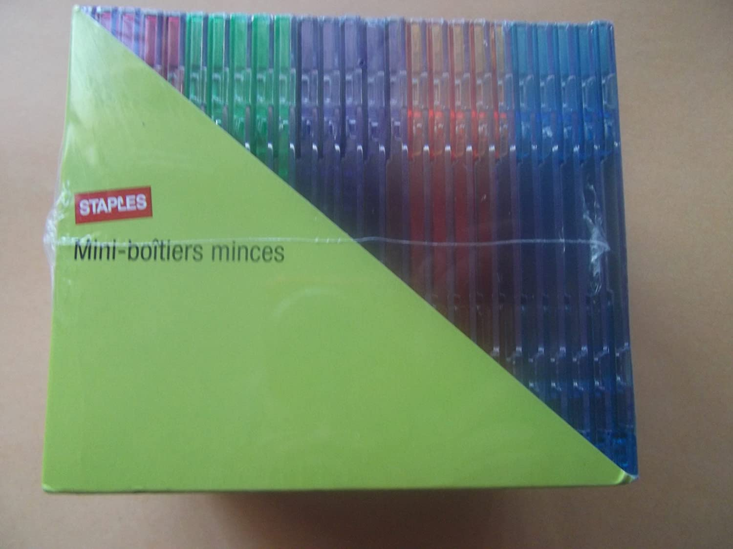 Staples 8cm CD jewel cases pack of 25 Holds mini-CDS and business card CDs