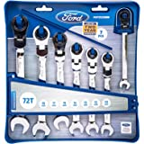 Ford 7-Piece Flex Geared Wrench Set Metric