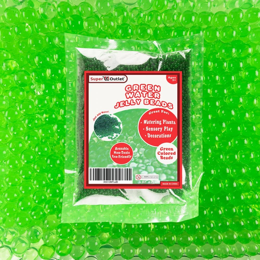 Super Z Outlet 1/2 Pound Bag of Apple Green Water Gel Pearls Beads for Home Decoration, Wedding Centerpiece, Vase Filler, Plants, Toys, Education (Makes 6 Gallons)