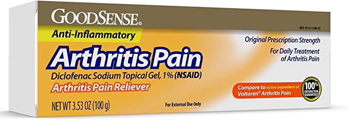 Amazon Com Goodsense Arthritis Pain Relieving Gel Diclofenac Sodium Topical Gel 1 Nsaid 3 53 Ounces Health Personal Care