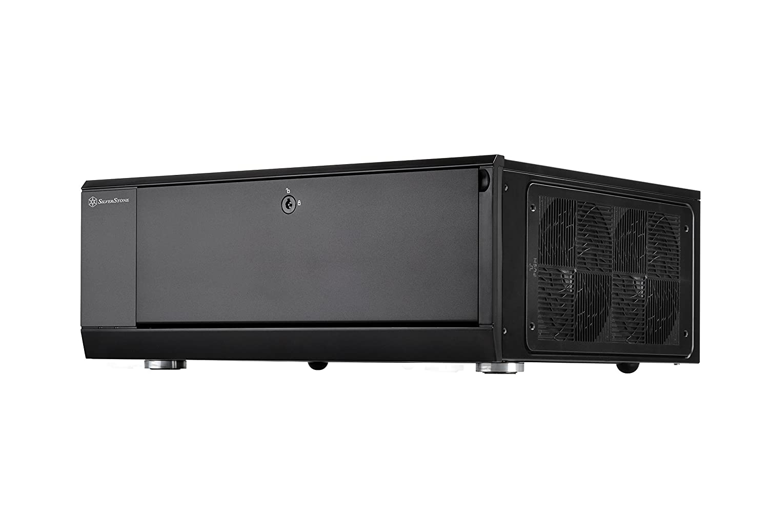 SilverStone Technology Home Theater Computer Case(HTPC)with lockable front panel for ATX / Micro-ATX Motherboards GD10B