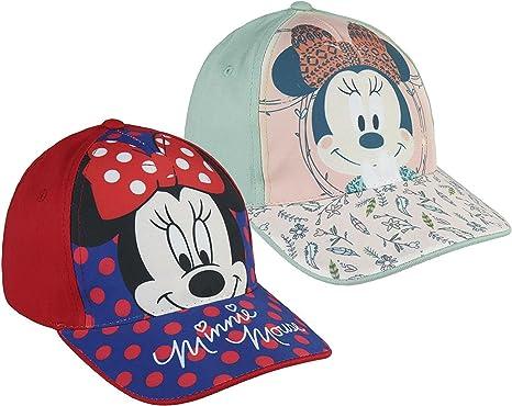 Pack 2 gorras de tela adaptables 2 diseños diferentes MINNIE ...