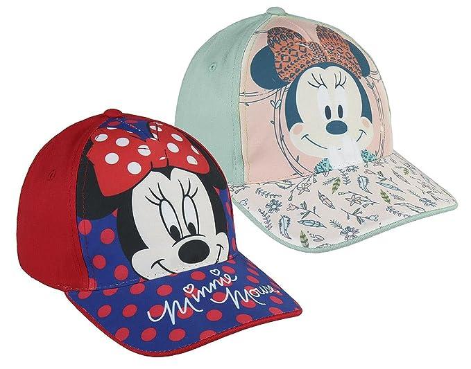 Pack 2 gorras de tela adaptables 2 diseños diferentes MINNIE (Disney) rojo y verde manzana: Amazon.es: Ropa y accesorios