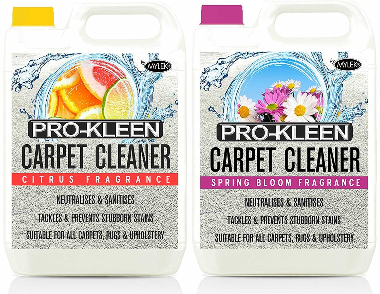 10L of Pro-Kleen x Mylek Ultima+ Professional Carpet & Upholstery Shampoo - Citrus & Spring Bloom Fragrance - High Concentrate Cleaning Solution - Suitable For All Machines MYLEK ULTIMA +