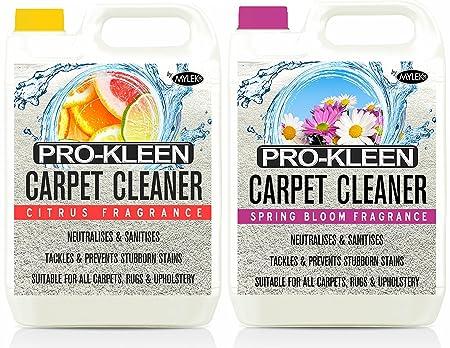 10L of Pro-Kleen x Mylek Ultima+ Professional Carpet & Upholstery Shampoo - Citrus &