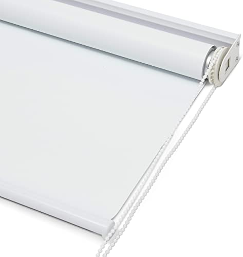 Kyle Bryce Blackout Roller Shade – White – Smooth Mechanics – Temperature Controlling Blinds – Temporary Darkening – Classic Sleek Style – Multiple Sizes – Window Cover White, 60 x 72 inch