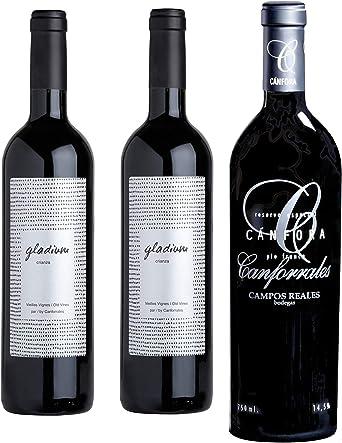 Canforrales Pack de Vino Estuche selección- 3 botellas x x750 ml - Total: 2250 ml: Amazon.es: Alimentación y bebidas