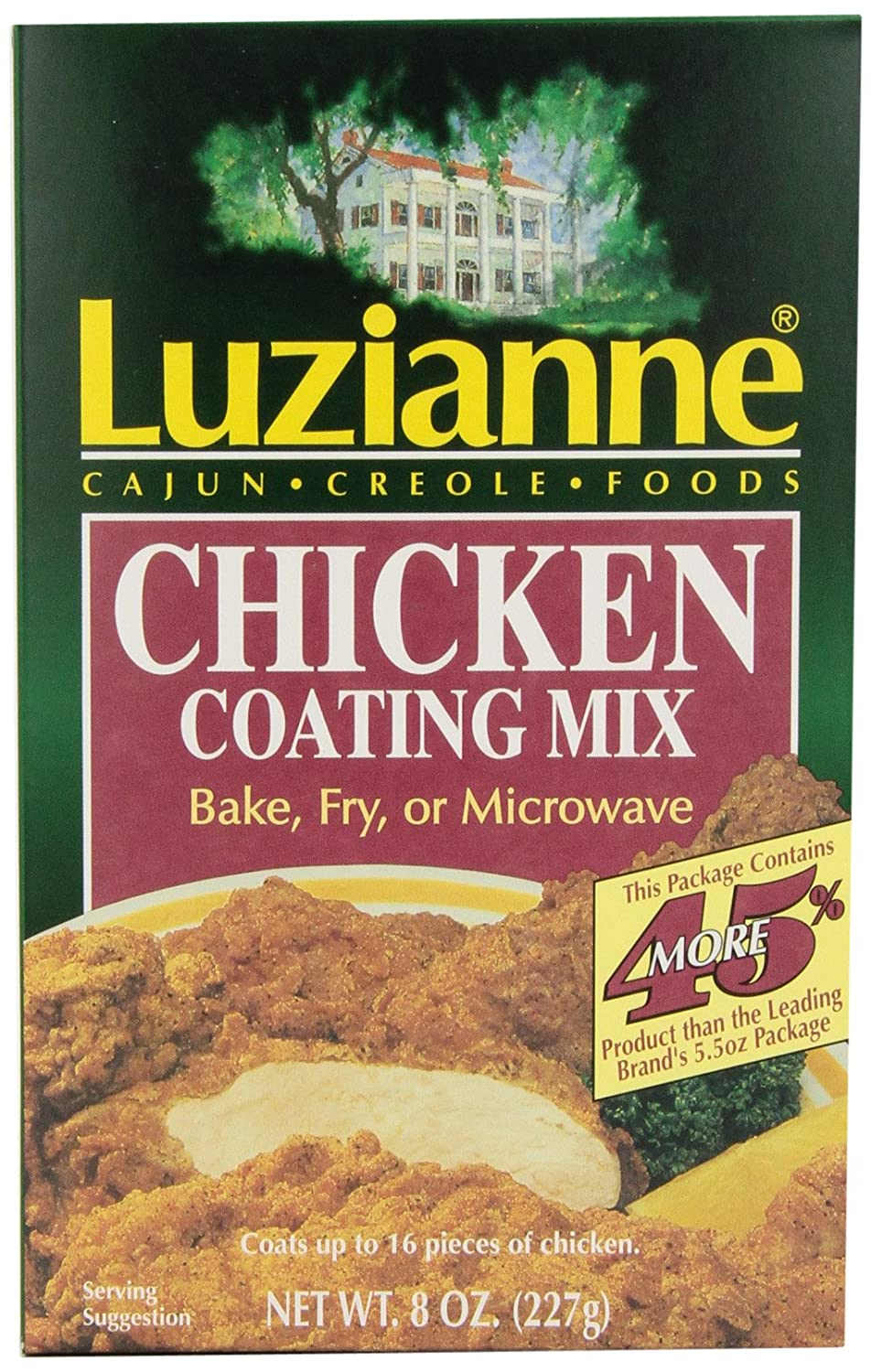 Amazon.com : Luzianne Chicken Coating Mix, 8-Ounce Boxes (Pack of ...