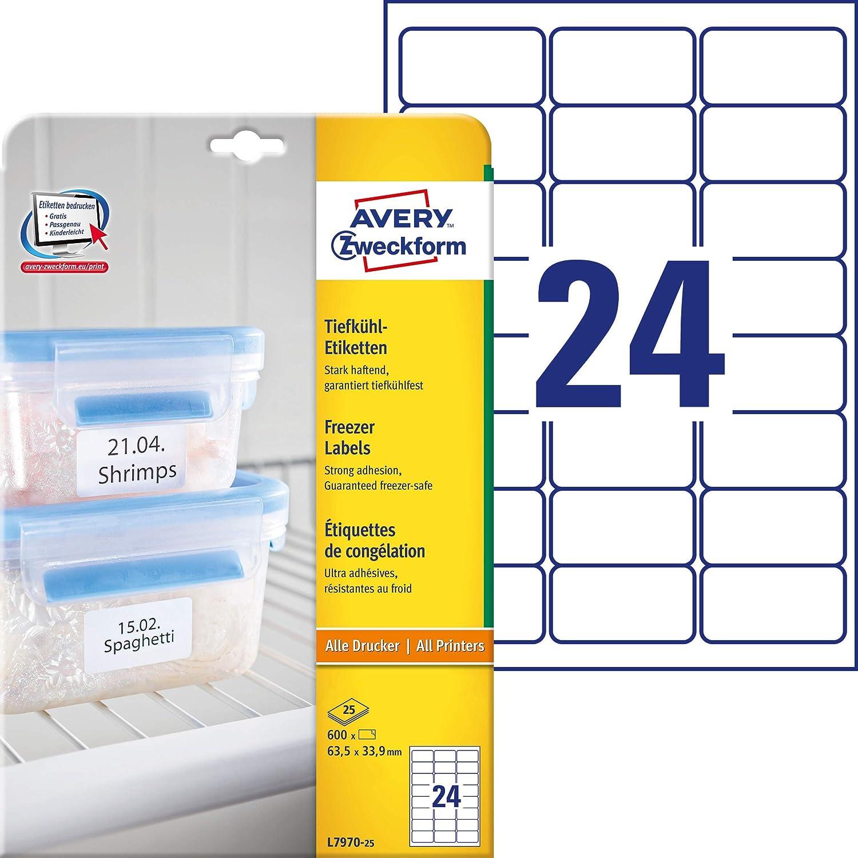 AVERY Zweckform ZDesign Tiefkühletiketten HOME orange 5 Blatt à 8 Etiketten