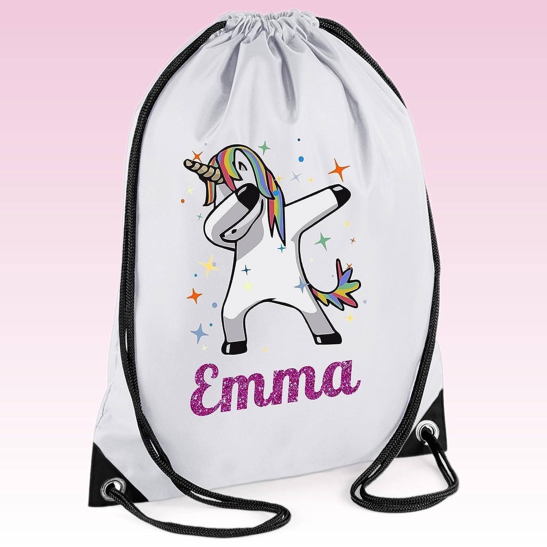 Personalised Girls Shopkins Drawstring Gym PE Bag