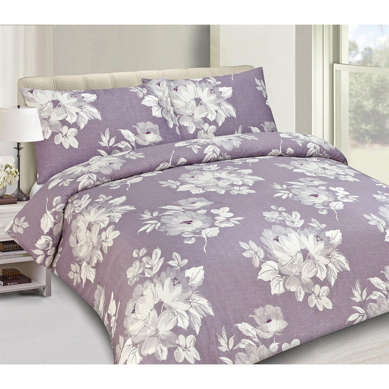 floral purple duvet cover   cotton sateen bedding cream grey  - floral purple duvet cover   cotton sateen bedding cream grey bed setpurple single duvet cover ( contemporary ) amazoncouk kitchen  home