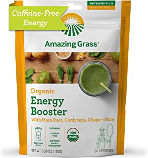 product image for Amazing Grass Energy Booster: Energy Greens Powder, Maca, Cordyceps & Chaga, Smoothie Booster with Vitamin B, 30 Servings