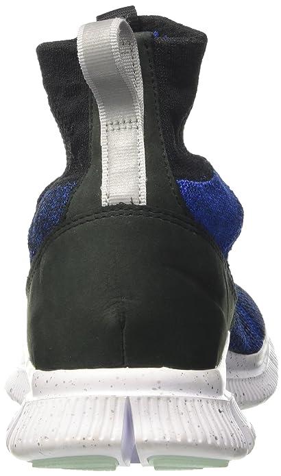 87c9d0f97d08 Nike Mens Free Flyknit Mercurial FC Hi Top Trainers Sneakers Shoes  Black/Blue