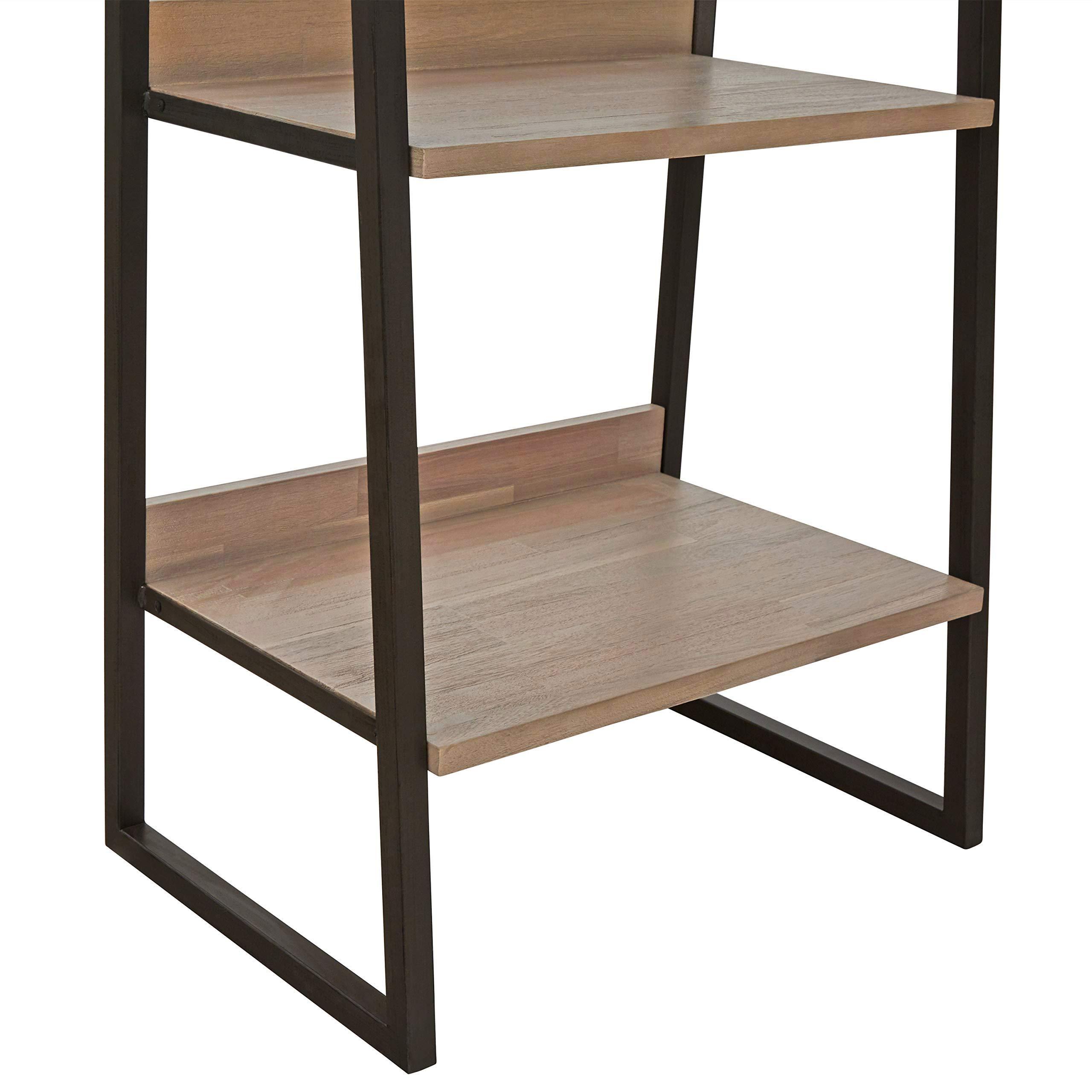 Rivet Roxmere Modern Bookcase, 23.6''W, Acacia, Sandblast Gray by Rivet (Image #6)