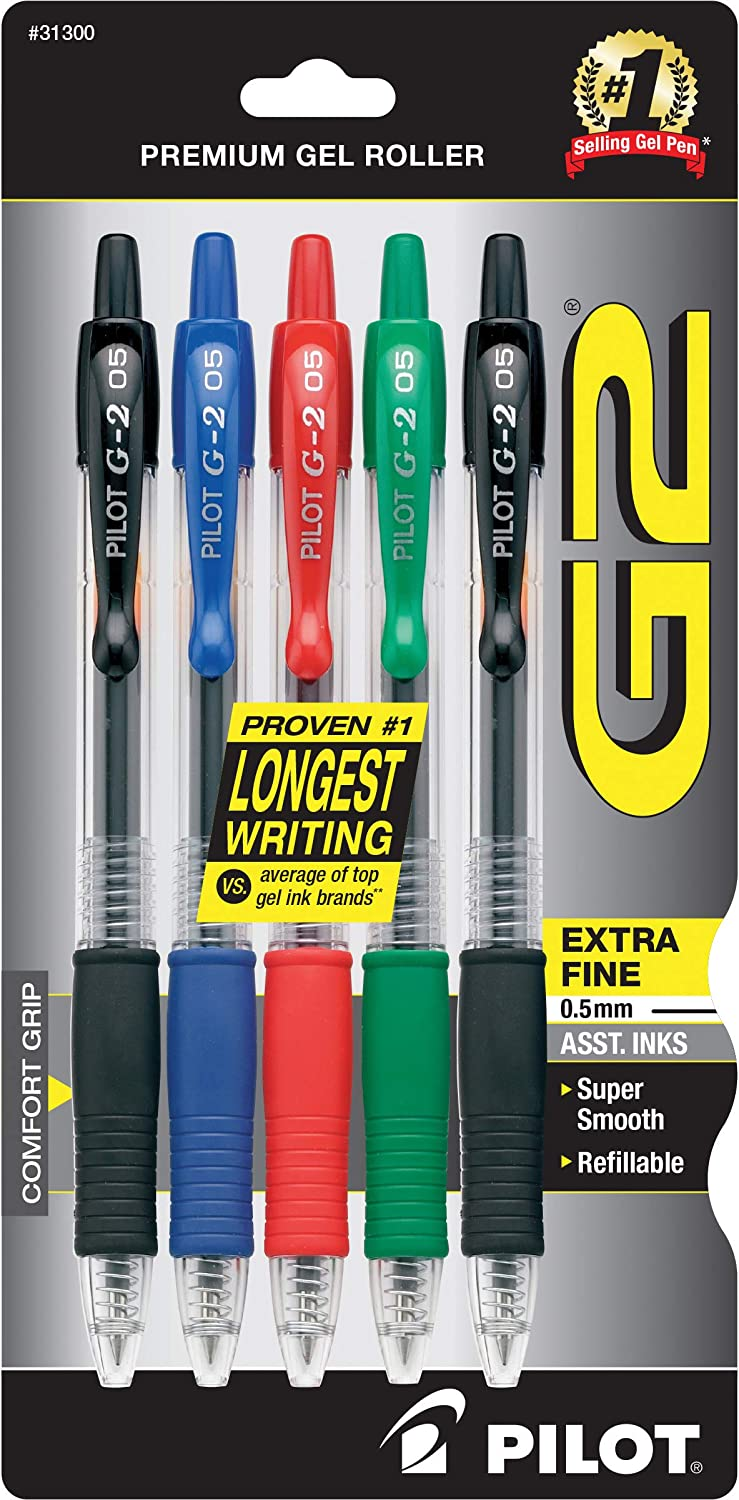 Pen Fine G2 Pro Retractable Pen Set of 6
