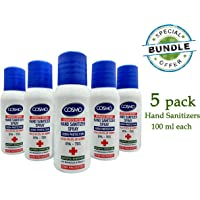 5 packs hand sanitizer spray (100 ml).Portable Refreshing Hand Soap Gel to Instant Skin Cleansing, Disposable Hand Sanitizer Gel for Adults & Children, Soft Hand Sanitizer Gel - virus precaution