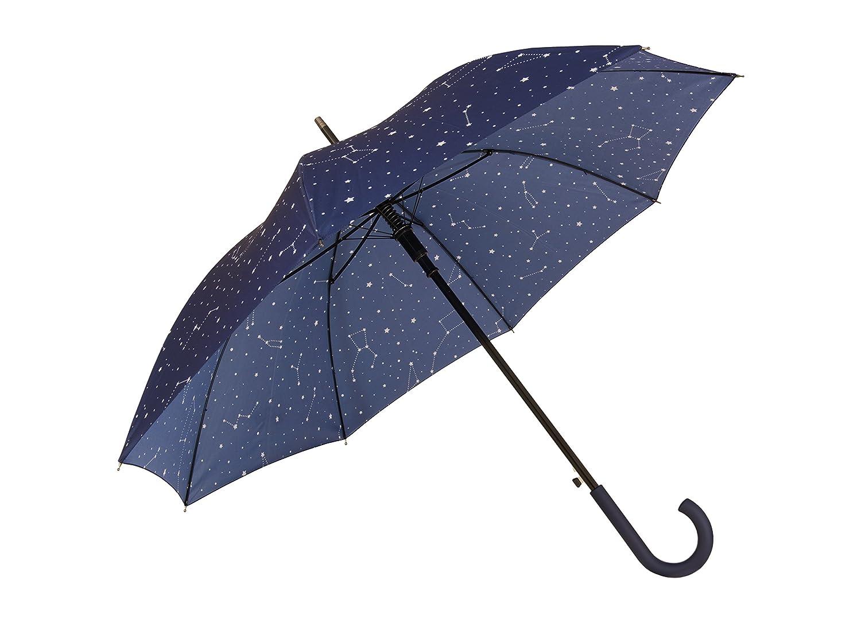 FISURA HM0705 Galaxy 106cm Ombrello Blu scuro e bianco Design Cielo elegante e originale con stelle e galassie automatiche