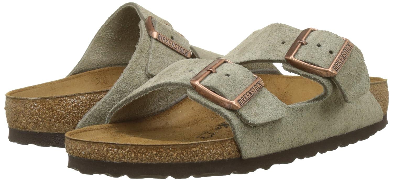 Birkenstock Arizona Soft Narrow Footbed Leather Sandal B000JIB5DY 40 Narrow Soft EU|Taupe Suede a0bcd7