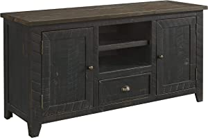 Martin Svensson Home Monterey TV Stand, Black with Brown Top