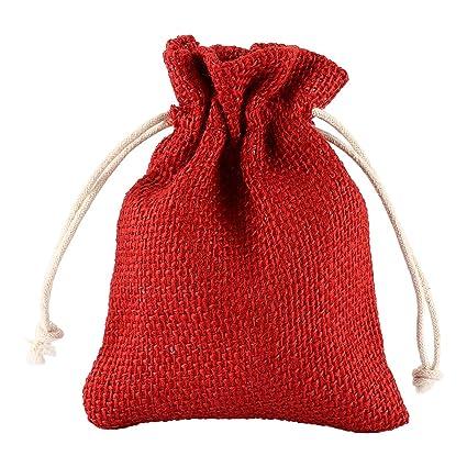 Grenhaven - SET 24x Saco de Joyas, bolsitas de yute, bolsa de tela, bolsas sacos de yute, Bolsas de Regalo, Bolsa De La Joyeria, 13x10cm, Lino ...