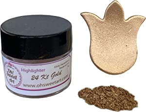 24 KARAT GOLD HIGHLIGHTER DUST (7 GRAMS) (7 grams Net. container) by Oh! Sweet Art Corp